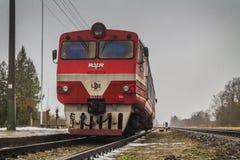 AR2 motrice在Daudzeva 免版税库存图片
