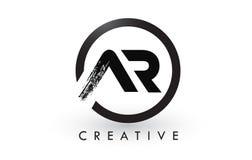 AR muśnięcia listu loga projekt Kreatywnie Oczyszczony list ikony logo royalty ilustracja