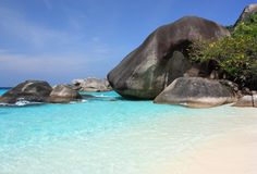 öar phuket similan thailand Arkivfoton