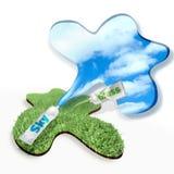 Ar puro fresco da grama ilustração stock
