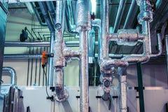 Ar que segura a unidade, ventilação industrial, condicionador de ar, anúncio publicitário, isolação, encanamento imagens de stock