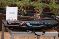 AR-15 Rifle as a raffle prize, only in Texas. Cane Island; Crossfit competition in Katy, TX. 2016 representing Westside Barbell Stock Images