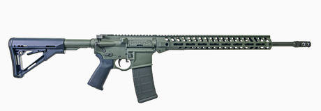 AR15 rifle with foliage green paint stock photos