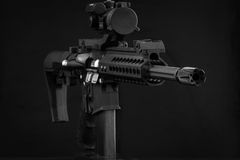 AR-15 Rifle. AR-15 M4 Rifle 300 Blackout Royalty Free Stock Image