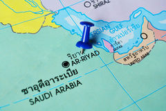Ar-riyad saudi arabia map Royalty Free Stock Image