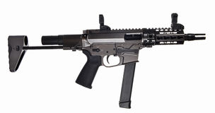 AR9 SBR with 33rd mag and extended stock and 5.5` barrel Royalty Free Stock Photo