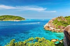 öar similan thailand Royaltyfri Bild