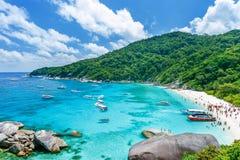 ?ar similan thailand tropisk liggande arkivfoto