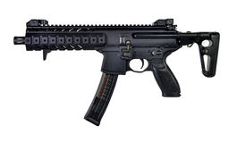 AR Style 9mm SBR. With a coloapsible stock Royalty Free Stock Image
