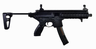 AR Style 9mm SBR extended stock stock photo