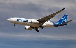 Ar Transat Airbus A330 Imagens de Stock Royalty Free