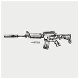 AR-15. Vector illustration. Royalty Free Stock Photos