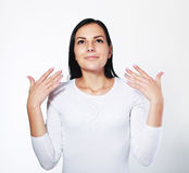 Ar wafting da mulher à narina foto de stock royalty free