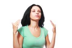 Ar wafting da mulher imagens de stock royalty free