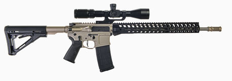 Free AR15 Rifle With Scope And Ni Boron Stock Image - 80423701