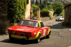 Araña Bérgamo Grand Prix histórico 2017 de Fiat 124 Imagen de archivo libre de regalías