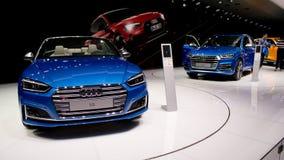 Araña de Audi A5 en Ginebra 2017 Imágenes de archivo libres de regalías