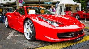 Araña de Ferrari 458 del coche de deportes (desde 2011) Imágenes de archivo libres de regalías