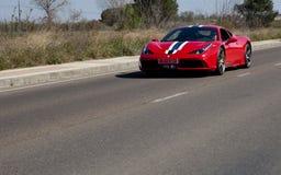 Araña de Ferrari F430 en el camino Foto de archivo libre de regalías