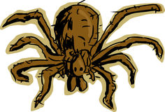 Araña del hobo libre illustration