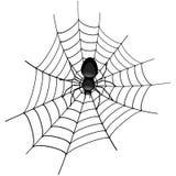 Araña en una telaraña ilustración del vector