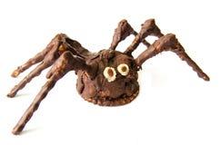 Araña hecha en casa del chocolate aislada en el fondo blanco Fotografía de archivo libre de regalías