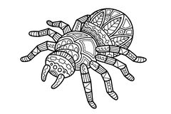 Araña linda stock de ilustración