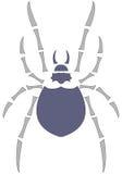 Araña púrpura Imagen de archivo libre de regalías