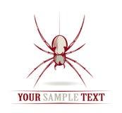 Araña roja del peligro Imágenes de archivo libres de regalías