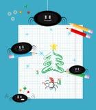 Arañas lindas: La Navidad Foto de archivo libre de regalías