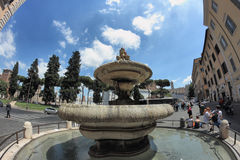 Ara Coeli Fountain in Rome, Italy. ROME, ITALY - MAY 20, 2014:  Ara Coeli Fountain in via San Venanzio,  mannerism style monument Stock Images