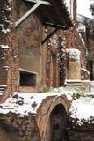 Ara Coeli house under snow Royalty Free Stock Photo