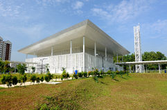 Ara Damansara Mosque in Selangor, Malaysia. SELANGOR, MALAYSIA – JUNE 15, 2015: Ara Damansara Mosque is a mosque on the green technology concept and was stock images
