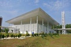 Ara Damansara Mosque in Selangor, Malaysia. SELANGOR, MALAYSIA – JUNE 15, 2015: Ara Damansara Mosque is a modern design mosque on the green technology royalty free stock photo