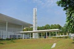 Ara Damansara Mosque in Selangor, Malaysia. SELANGOR, MALAYSIA – JUNE 15, 2015: Ara Damansara Mosque is a modern design mosque on the green technology stock photography