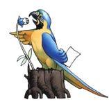 Ara (macaw) Photographie stock libre de droits