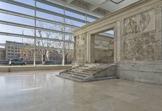 Ara Pacis museum complex Royalty Free Stock Images