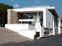 Ara Pacis Museum, Rome, Italy. This modern building, designed by the famous American architect, Richard Meier, was inaugurated in 2006 stock image