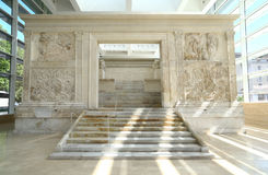 Ara Pacis in Rome, Italy Stock Image