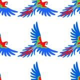 Ara papuzi bezszwowy wzór royalty ilustracja