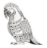 Ara parrot zentangle stylized Stock Photo