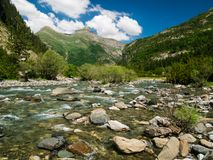 Ara river with the peak of Ordiso in the background stock photos
