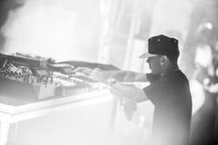 Araabmuzik concert in Moscow. Famous hip-hop producer Abraham Orellana aka Araabmuzik playing live concert in Moscow, Russia on 7 March 2015 stock photos