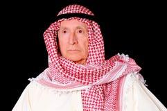 Arab. Portrait of an elder arab isolated on black Royalty Free Stock Photos