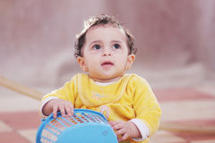 Arab african baby girl Royalty Free Stock Image