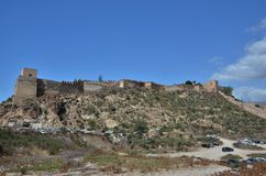 Arab Alcazaba of Almeria in Andalucia, Spain royalty free stock photography