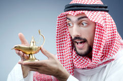 Arab and ancient  lamp Royalty Free Stock Photo