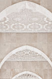 Arab arches in the Hassan II Mosque in Morocco Royalty Free Stock Photography