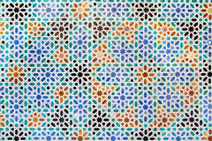 Arab background of tiles in Sevilla, Spain Royalty Free Stock Photo
