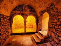 Arab Baths, Girona, Spain Stock Images